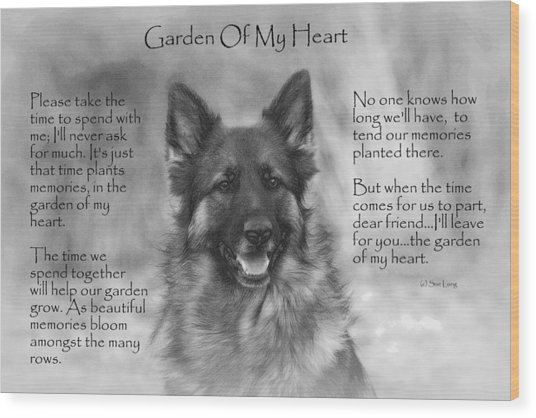 Garden Of My Heart Wood Print
