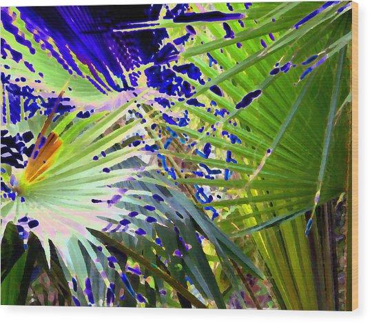 Garden Palms Wood Print