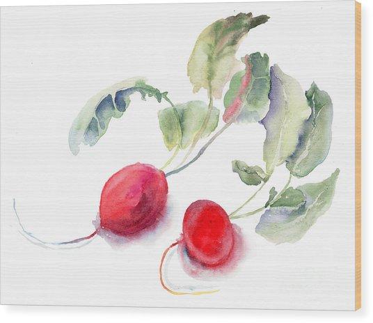 Garden Radish Wood Print