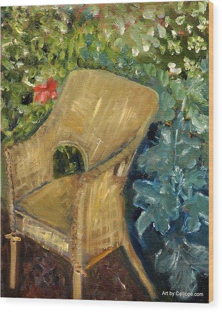 Garden Reading Chair Wood Print