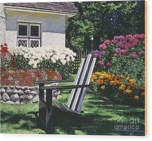 Garden Resting Place Wood Print