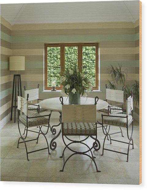Garden Room Wood Print by Phototropic