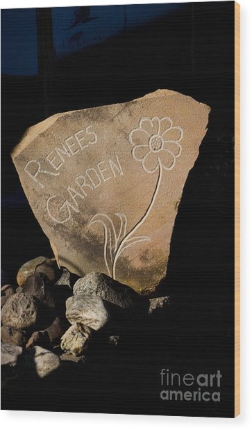 Garden Signs Wood Print by The Stone Age