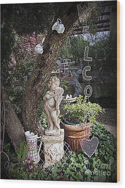 Garden Simphony Wood Print