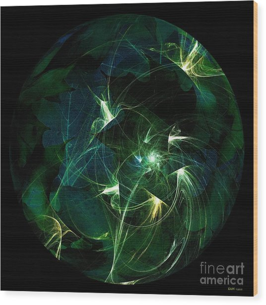 Garden Sprites Come At Night Wood Print