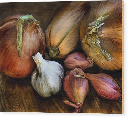 Garden Vegetables  Wood Print