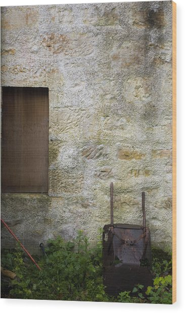 Garden Wall Dornoch Scotland Wood Print