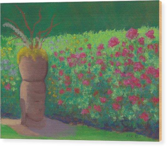 Garden Welcoming Wood Print