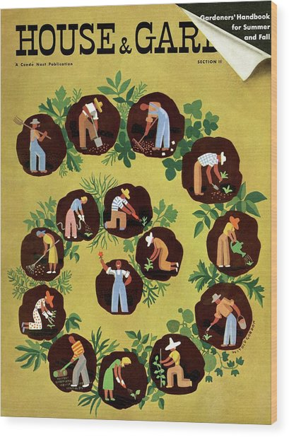 Gardeners And Farmers Wood Print