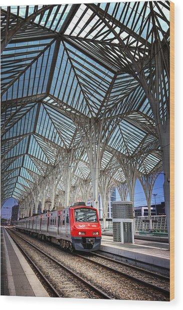 Gare Do Oriente Lisbon Wood Print