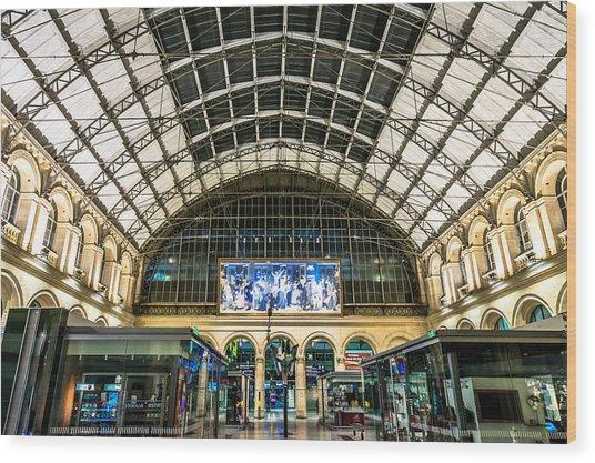 Gare Du L'est Wood Print