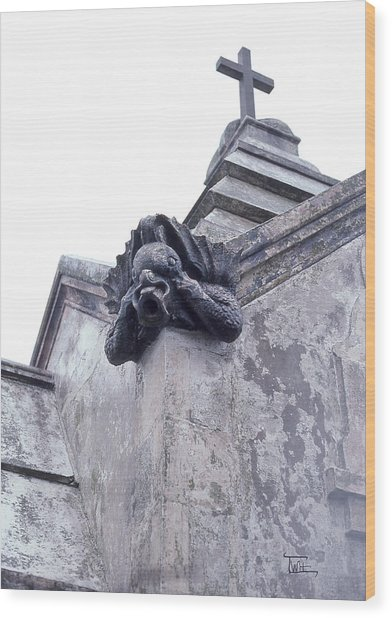 Gargoyle On The Italian Vault Wood Print