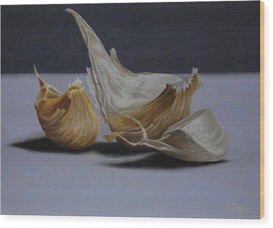 Garlic Cloves Wood Print