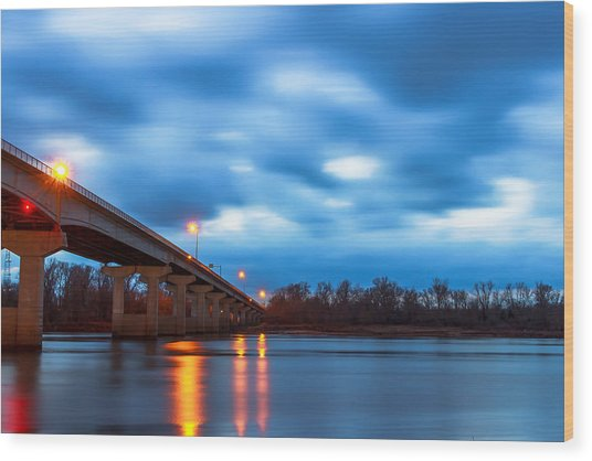 Garrison Ave. Bridge Wood Print