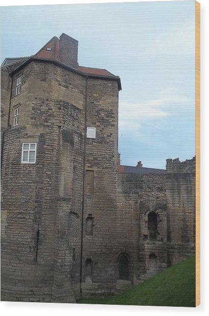 Garth Castle Wood Print
