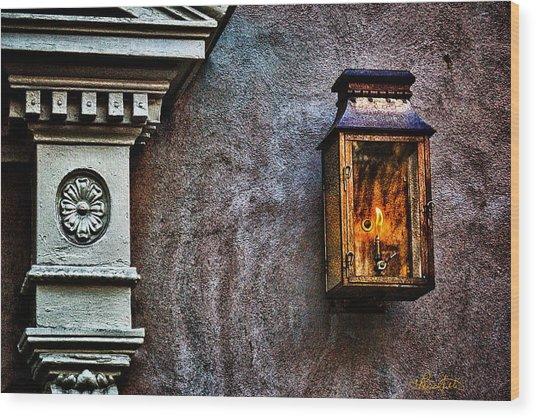 Gas Lantern Wood Print