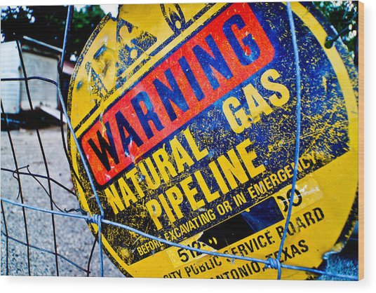 Gas Pipeline Wood Print