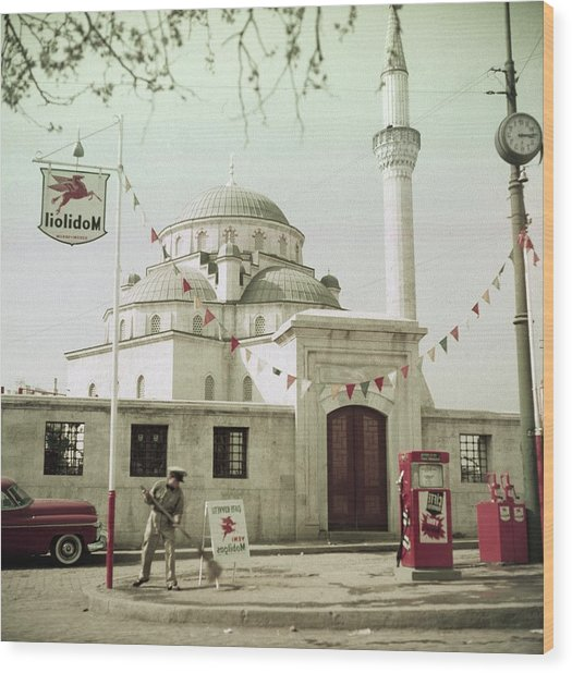 Gas Station In Turkey Wood Print