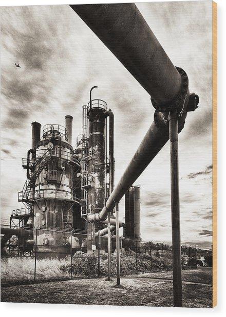 Gas Works Wood Print