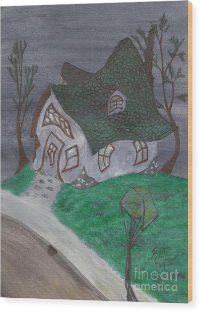 Gaslight Whimsy Wood Print by Robert Meszaros