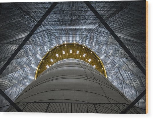 Gasometer - Big Air Package Wood Print