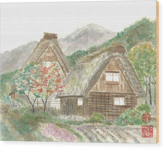 Gassho-zukuri Home Wood Print