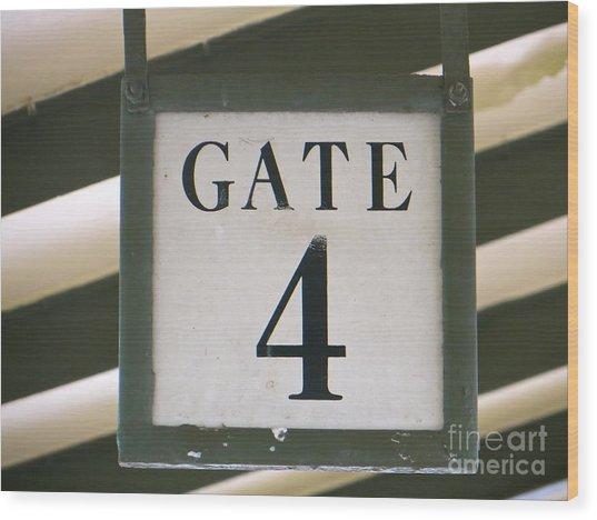 Gate #4 Wood Print