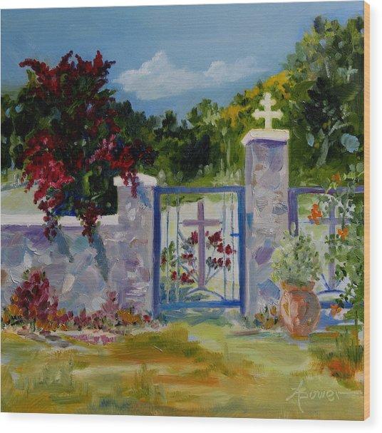 Gate At Tharri Monastery - Rhodes Wood Print