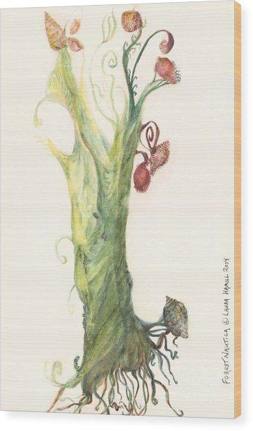 Gate Goddess Of Forest Nautica Wood Print