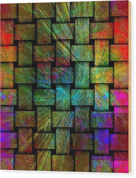 Wood Print featuring the digital art Gate by Visual Artist Frank Bonilla