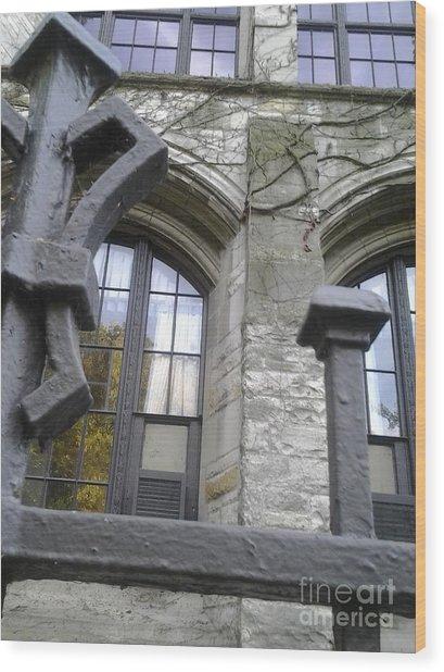 Gates And Windows Wood Print
