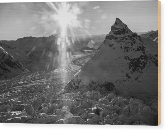 Wood Print featuring the photograph Gates Glacier by Fred Denner