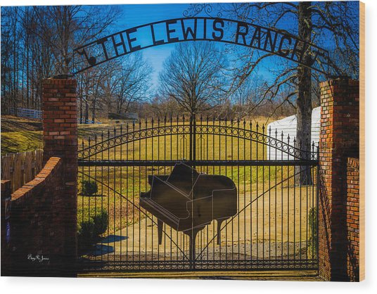 Gates Of Rock And Roll Wood Print