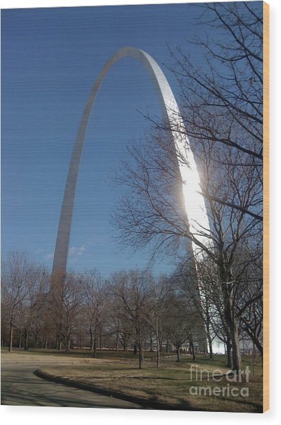 Gateway Arch Brilliance Wood Print
