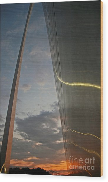Gateway Arch Sunrise Wood Print