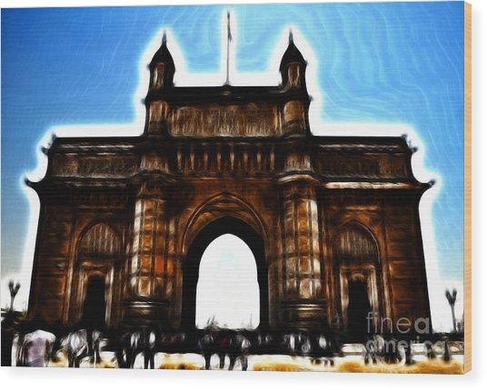 Gateway To Fractalius Wood Print