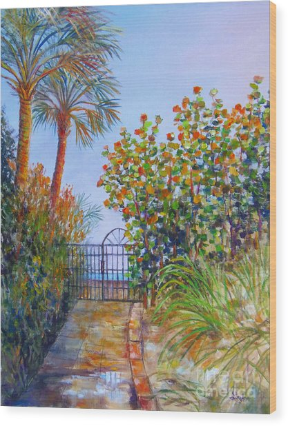 Gateway To Paradise Wood Print