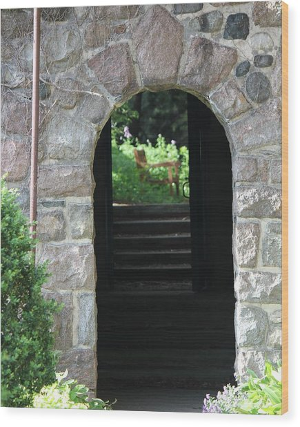Gateway To The Garden Wood Print