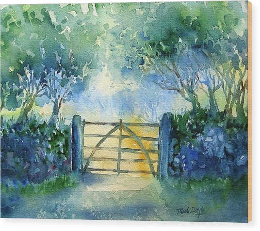 Gateway To The Harvest Field  Wood Print