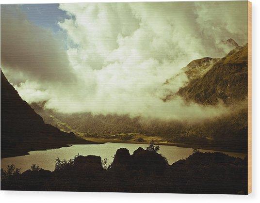 Gathering Clouds  Wood Print