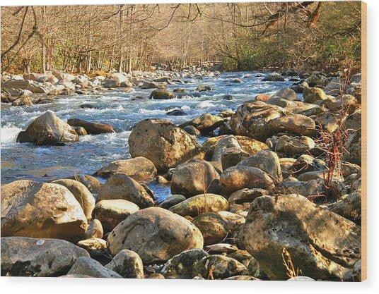Gatlinberg River Wood Print