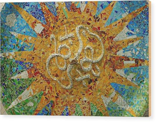 Gaudi Art Wood Print