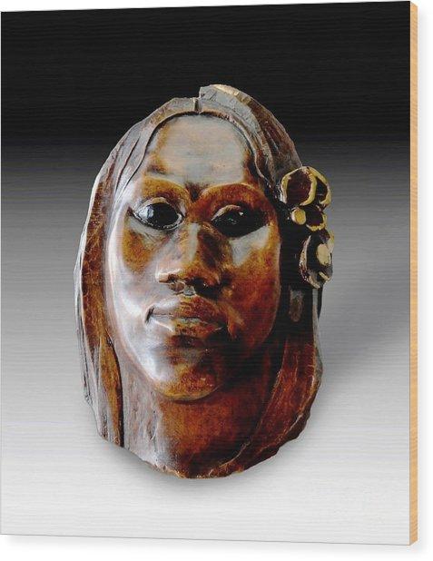 Gauguin Sculpture - Tehura Wood Print by Pg Reproductions