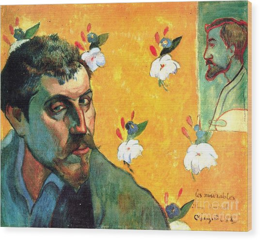 Gauguin Self Portrait - As Jean Valjean Wood Print by Pg Reproductions