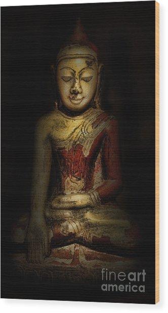 Gautama Buddha Wood Print by Lee Dos Santos