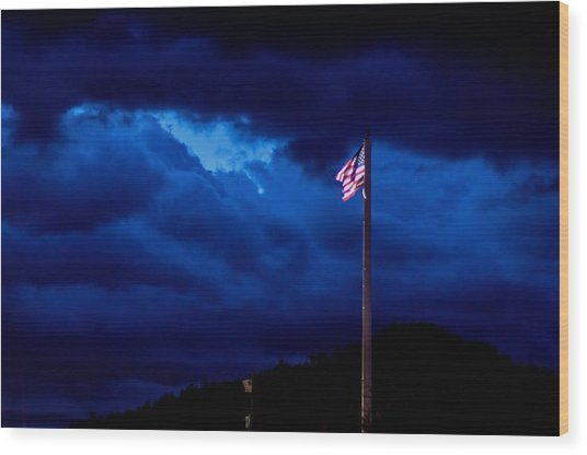 Gave Proof Through The Night That Our Flag Was Still There. Wood Print