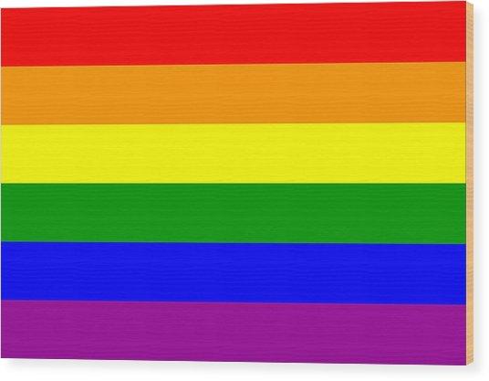Gay Pride Flag Wood Print