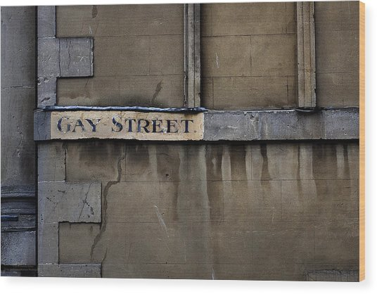 Gay Street Denise Dube Wood Print