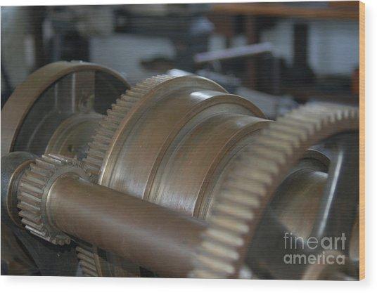 Gears Of Progress Wood Print