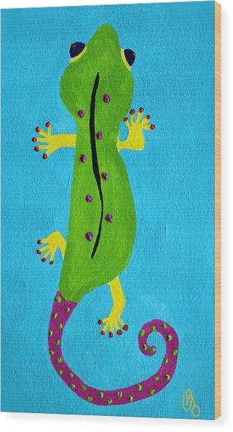 Gecko Gecko Wood Print
